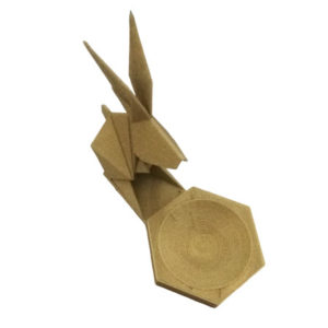 Deco Suport Geometry 3D Origami Funny Bunny