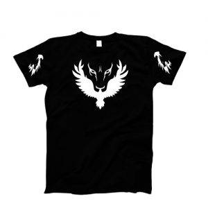 "Tricou imprimat DTG ""The Hawk and Wolf Eye"""