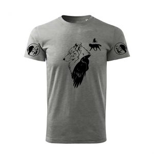 "Tricou imprimat DTG ""Wolf and Raven Legend"""