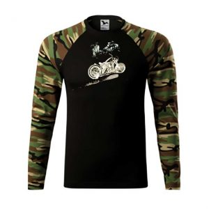 "Tricou mânecă lungă imprimat DTG ""Scout In The Jungle Motorcycle"""