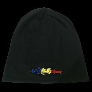 """Căciulă - Bumbac- Broderie """"Lupul Dacic Tricolor"""""""