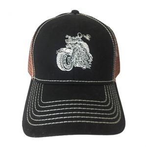 """Șapcă cu Inserții de Plasă - Broderie """"The Vintage Legend Motorcycle"""""""